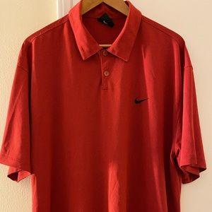 Nike Golf textured fabric Dri-Fit men's shirt
